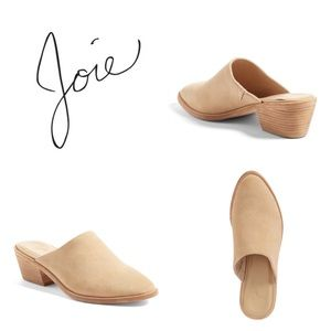 JOIE Aileen Suede Tan Taupe Slip On Mules